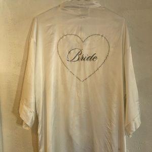 Victoria Secret I Do Crystal Bride satin Robe